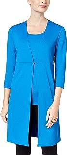 Kasper Womens Three-Quarter Sleeves Business Knit Blazer