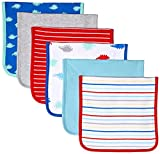 Amazon Essentials - Pack de 6 baberos para bebé. Talla única, Boy Dino, Talla...