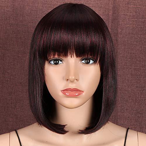 comprar pelucas cortas rojo vino
