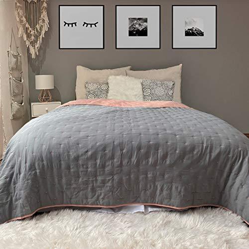 HOMELEVEL Colchas de Cama de Esquina colchas Colcha para Cama y sofá Colcha Verano Cama 240cm x 220cm