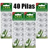 Paquete 40 Batería de botón de batería alcalina Celular L
