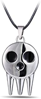 MANZHEN Antique Silver Tone Ghost Specter Pendant Soul Eater Necklace Hallowmas Gift