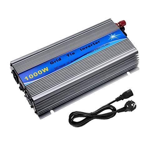Y&H 1000W Grid Tie Wechselrichter stapelbar MPPT Reine Sinuswelle DC10.8-30V Solareingang für 12V Solarpanel.AC190V-260V Ausgang Reine Sinus Strom-Netz-gebunden