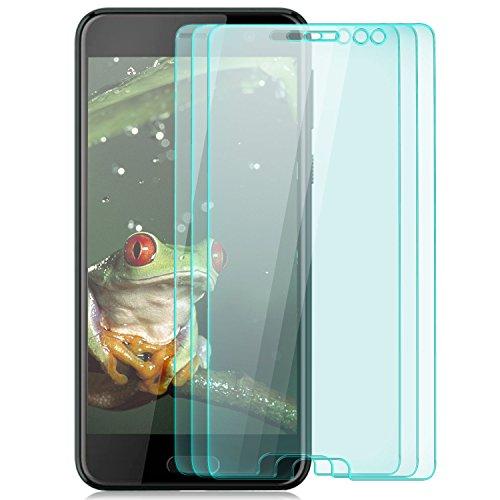 zanasta [3 Stück Bildschirmschutz Folie aus Gehärtetem Glas HTC U Play Bildschirmschutzfolie Panzerfolie Glasfolie Hartglas Schutzfolie | HD Klar Transparent