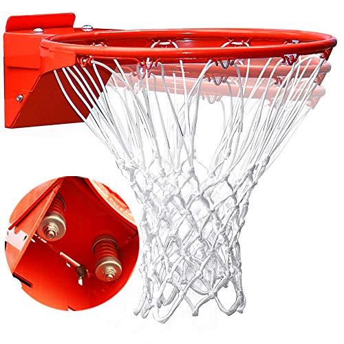 Pro Slam Professional 180º Heavy Duty Breakaway Basketball Rim,18 inch Double Spring Flex Rim Goal Replacement fit Indoor and Outdoor Backboard (Orange, 18 inch)