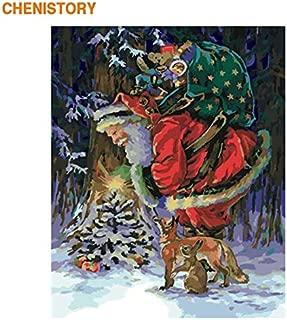 baodanla Sin Marco Imagen por números Papá Noel Imagen Moderna del Arte de la Pared Pintura acrílica sobre Lienzo 40x60cm