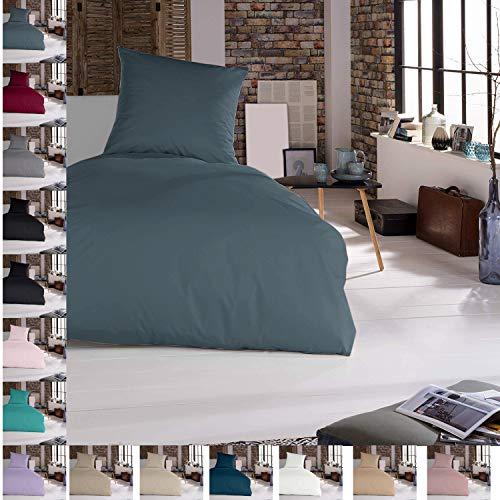 Bettwäsche Bettgarnitur Bettbezug 100% Baumwolle 135x200 155x220 200x200, Farbe Bettwäsche:Petrol, Größe Bettwäsche:135 x 200 cm