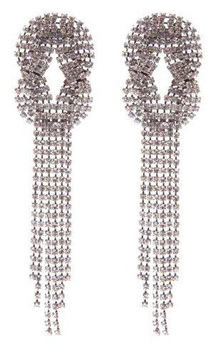 Cristal de Swarovski dejó pendientes en plata para orejas