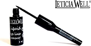 Eyeliner líquido de Leticia Well, resistente al agua, negro