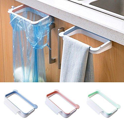 Quick4You Soporte para bolsa de basura colgante para cocina, armario de cocina, 2 unidades