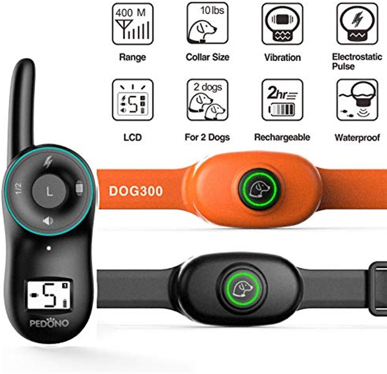 Ocamo 400M Pet Dog Electric Shock Training Collar Anti Barking Device Remote Control Dog Device Black with Remote Control