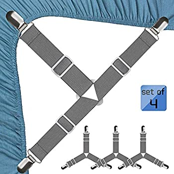 4-Pieces JBYAMUS Bed Sheet Fasteners