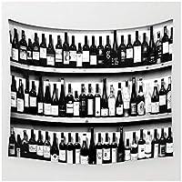 Zzdhewyz ワインボトルタペストリー壁掛け壁装飾寝室壁アートタペストリー家の装飾150x100cm
