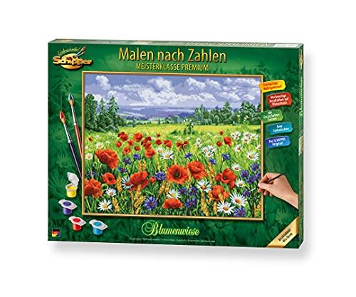 Schipper 609130824 Malen nach Zahlen, Blumenwiese - Bilder malen für Erwachsene, inklusive Pinsel und Acrylfarben, 40 x 50 cm