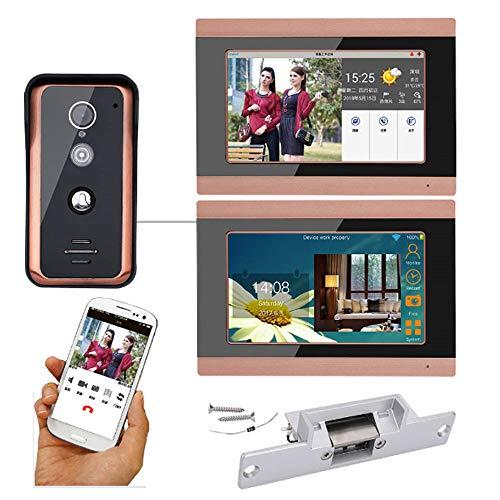 Timbre de video Wifi, Intercomunicador de Videoportero de 7 pulgadas, Control de...