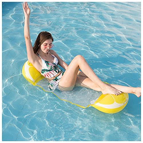 Schwimmbad schwimmende Hängematte, aufblasbare schwimmende Betten, faltbares Mesh Schwimmbad schwimmend Wasser Hängematte, Erwachsene und Kinder Hinterhof Schwimmbad Hängematte Schwimmspielzeug