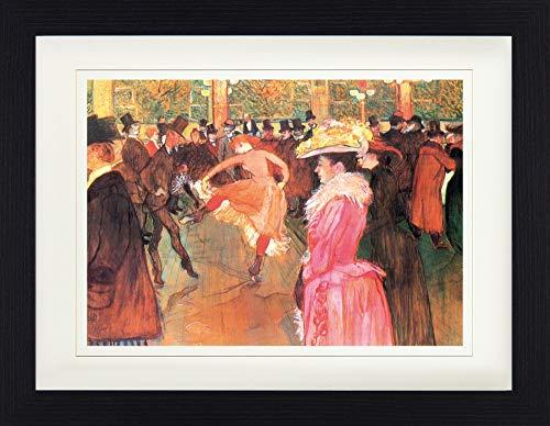 1art1 Henri De Toulouse-Lautrec - Tanz Im Moulin Rouge, 1890 Gerahmtes Bild Mit Edlem Passepartout | Wand-Bilder | Kunstdruck Poster Im Bilderrahmen 40 x 30 cm