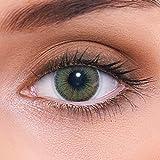 lenzotica lenti colorate 2 pezzi lenti a contatto naturale | lenti verdi colore natural green + contenitore | dia 14.00 senza correzione 0.00 diottrie | lenti a contatto