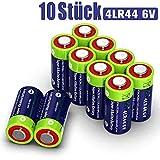 10 Stück 4LR44 6V Quecksilberfreie Alkaline Batterien PX28, 4G13, 476A, L1325, A544, A4034PX für Fernbedienung, Roter Laser, Bellen zu Stoppen, Schönheit