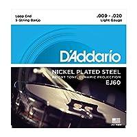 【2セット】D'Addario ダダリオ EJ60[9-20] ループエンド 5弦 バンジョー弦 ニッケル・プレイテッド・スチール
