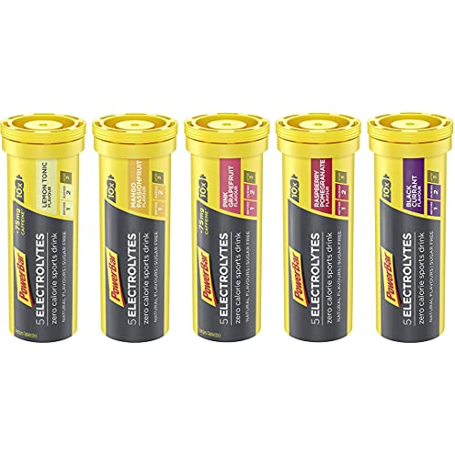 Powerbar 5 Electrolytes - 5 Röhrchen x 10 Tabletten - Mixbox alle Geschmäcker