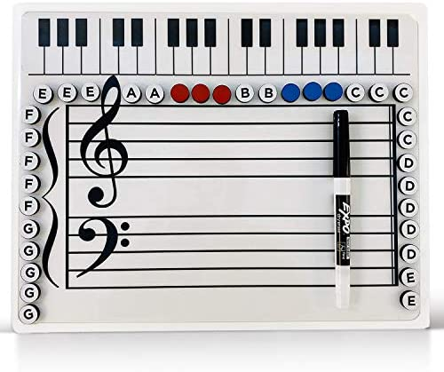 Music Grand Staff Dry Erase Magnetic Board product image