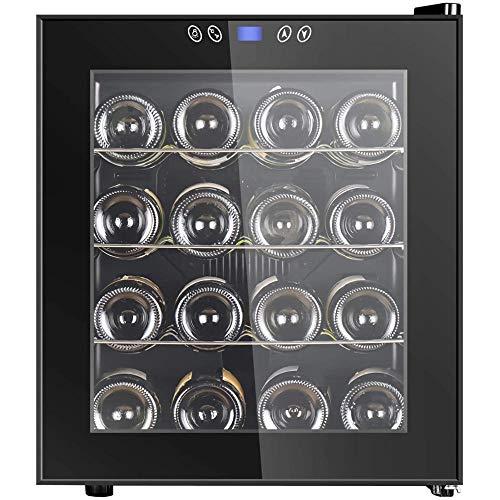 Enfriador de vino Refrigerador Termoeléctrico Independiente Bodega Encimera Mini refrigerador de vino Temperatura y humedad constantes 16 botellas-16 botellas
