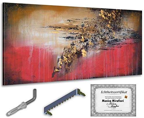 Monica Mirafiori I Gemälde 'Nordwind' I 140x70cm | XXL Leinwandbild handgemalt | Acrylgemälde auf Leinwand | Sehr großes Acrylbild auf Keilrahmen I Moderne Kunst