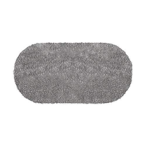 エア・リゾームラグマット洗えるシャギーおしゃれオールシーズンマイクロファイバーシャギーラグ130×190cmタイプグレー〔楕円形〕