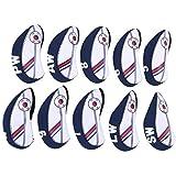 GAESHOW 10 Uds Golf Irons Cue Headcover Club End Protector Corea Bandera Nacional Mezcla de Colores Neopreno elástico