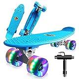 Monopatín Completo Mini Cruiser Skateboard 22' Retro Skate Board para Niños Adolescentes Adultos,...