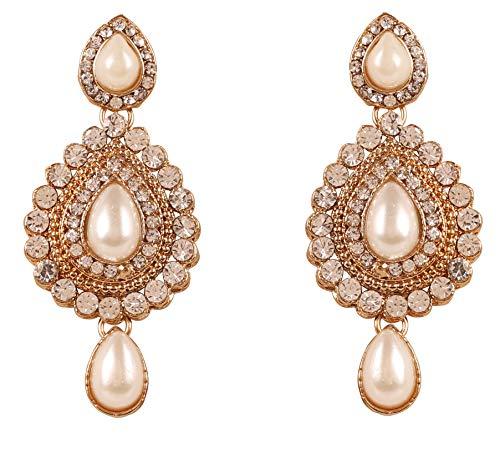 Touchstone Indian bollywood desire contemporánea diamante look blanco rhines diseñador joyas araña aretes para mujer