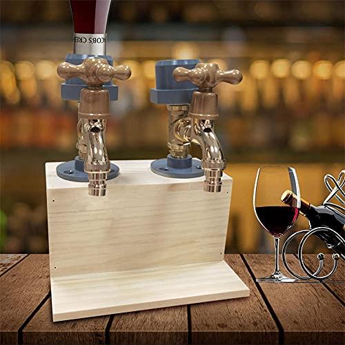DERMASENS Dispensador De Madera De Whisky, Licor De Licor del DíA del Padre, Dispensador De Madera De Whisky con Forma De Grifo, Dispensador De Alcohol para Cenas De Fiesta, Bar En Casa (B)