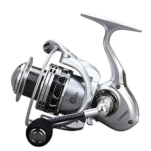 FUJGYLGL Todo el Metal Pesca Carrete línea Taza sin Brecha Rueda de Pescado Rock Rocker Pescado Carrete Rueda giratoria rodamiento 13 + 1 (Size : 4000)