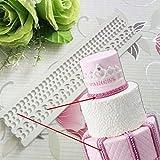 Fewear Cuerda de cáñamo, perla, fondant, herramientas de decoración de tortas de boda, borde de silicona, molde de pasta de azúcar, dulces y chocolate