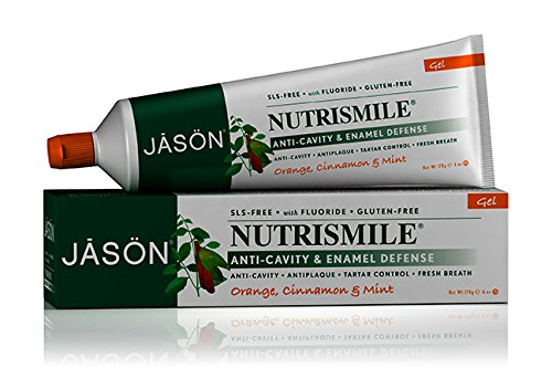 Jason Nutrismile Toothpaste Gel with Fluoride, Orange, 6 Ounce