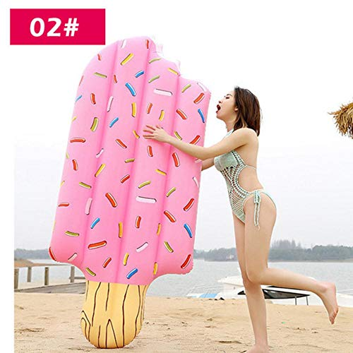 QWK - Colchón hinchable hinchable para piscina, piscina, verano, playa, natación, 213x69 cm, CHINA