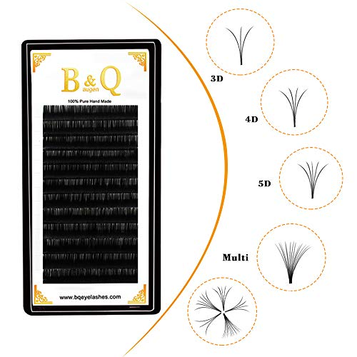 Russie Volume Eyelashes Extensions 0.05 C Curl 12mm 3D 4D 5D 6D 7D 8D Easy Fan Lacils 0.03 0.07 0.10 mm C/D Curl 9-18mm Longueur