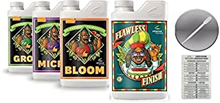 Advanced Nutrients Bloom, Grow, Micro 500mL & Advanced Nutrients Flawless Finish 250mL Bundle w/Conversion Chart & 3mL Pipette