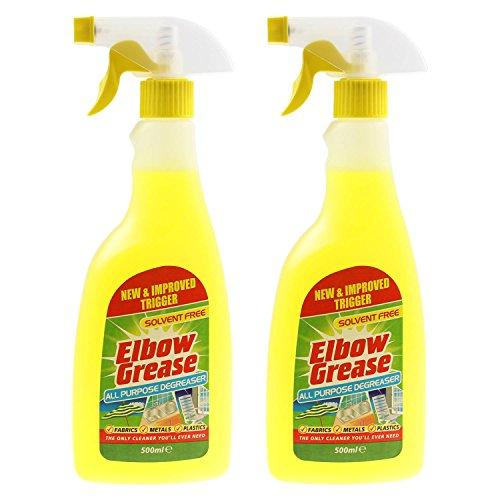 Desconocido Codo Grasa 2 x 500 ml Multiusos Cocina lavandería hogar desengrasante Limpiador Spray