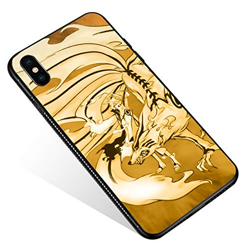 iPhone Xs Max Case,Tempered Glass iPhone Xs Max Cases Power Fox Master for Women Girls Boys, Pattern Design Shockproof Anti-Scratch Case for Apple iPhone Xs Max