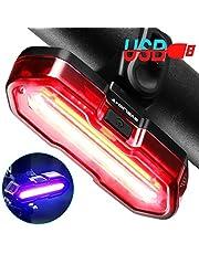 Byblight 自転車 テールライト usb充電式 高輝度ledテールライト セーフティーライトとして使用可能 2色5種点灯モード 防水 夜間走行の視認性をアピール