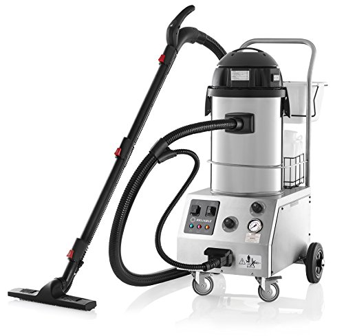 Reliable 2000CV Tandem Steam Cleaner - Adjustable Pressure Control with Wet & Dry Vacuum and 6 Bar Pressure (87 PSI) CSS & EMC2 Technology, 9 Ft Hose, Made in Italy