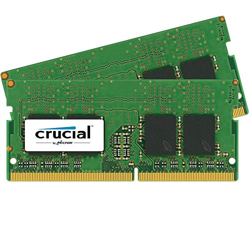 Crucial CT2K4G4SFS624A 8GB (4GB x2) Speicher Kit (DDR4, 2400 MT/s, PC4-19200, Single Rank x16, SODIMM, 260-Pin)