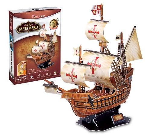 3D three-dimensional puzzle Santa Maria No. (japan import)