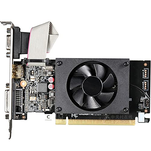 RTYU Fit for la Tarjeta gráfica GIGABYTE GT710 1GB 64Bit GDDR3 Tarjetas de Video para Tarjetas Nvidia VGA Geforce Original...