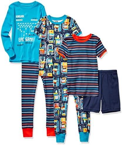 Spotted Zebra Boys Kids Snug Fit Cotton Pajamas Sleepwear Sets 6 Piece Video Games Large product image