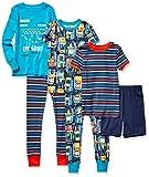 Spotted Zebra Boys' Infant Snug-Fit Cotton Pajamas Sleepwear Sets, 6-Piece Video Games, 24 Months