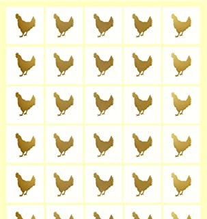 Savor The Memories Meal Stickers for Place Cards (Gold or Black) (Clear with Gold Icon, Chicken)