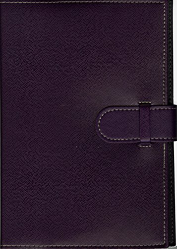 Pierre Belvedere Executive A5 Notebook, Refillable, Plum (370930)
